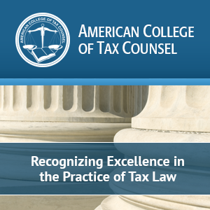 Robb Longman Elected Fellow of American College of Tax Counsel